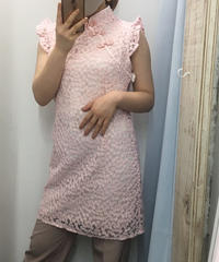 🐼チャイナお花レースタイトワンピ🐼(NO.6650)