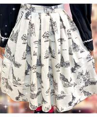 🤍刺繍で描かれた街並みとスカート(NO.8228)