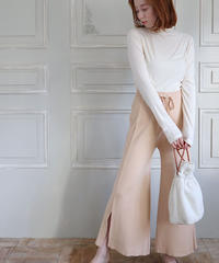 slit knit pants