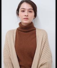 volume knit cardigan
