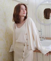 plain cami & cardigan