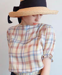 Pâle check blouse