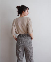 fall gingham pants