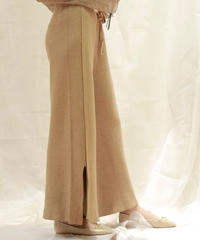 autumn slit knit pants