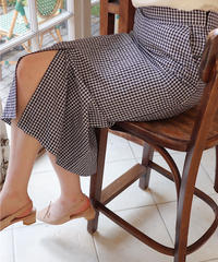 pencil gingham skirt