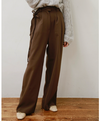 side ribbon pants