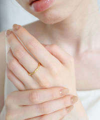 silver uneven ring