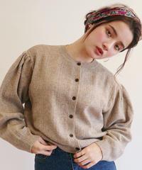 puff knit cardigan