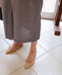 pencil gingham skirt