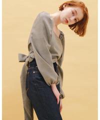 feminine check blouse