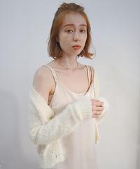 petit shaggy cardigan