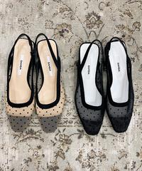 heel less  dot  shoes