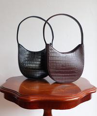 round croco bag