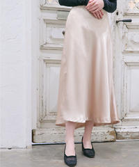 rose satin skirt