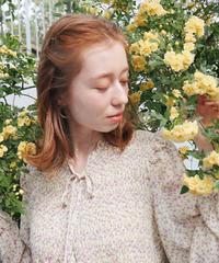 florets shirring blouse