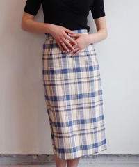Renée check skirt