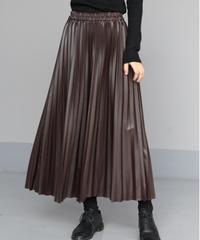 即納 puレザープリーツスカート
