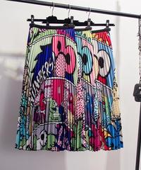 キャラクタープリーツスカート