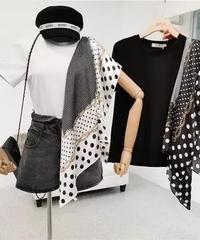 スカーフパッチワークtシャツ