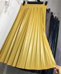 puレザープリーツスカート
