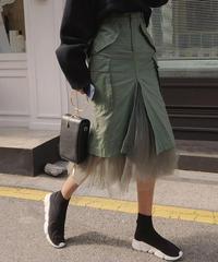 即納 チュール付きスカート