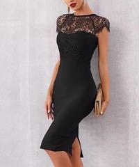 レースタイトドレス