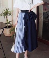 異MIXストライプスカート