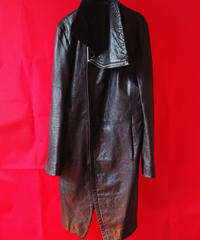 【No ID】Leather Coat (Used)