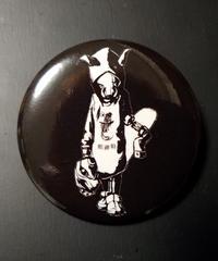 MUTSUYO Boar Tin Badge White