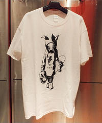 MUTSUYO Loose-Fitting Silhouette T Shirt  White