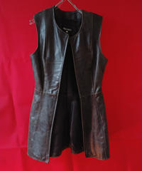 Leather Long Vest (Used)