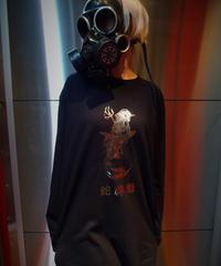 IJEN KAI Silver Foil Printed Long Sleeve Shirt (Kanji)
