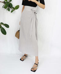 side ribbon flare skirt