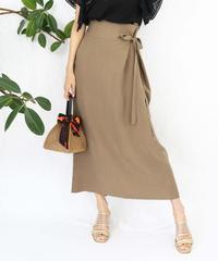 side ribbon long skirt