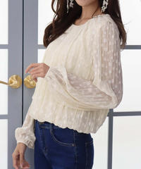 classical dot blouse