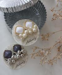 bi-color  bijou earring
