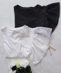 〈再入荷〉frill cotton sleeve T-shirts