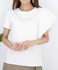 asymmetry frill  T shirt
