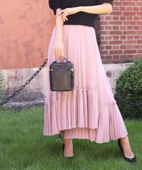 《再再入荷》combination pleats skirt