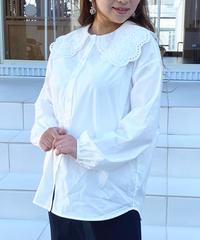 〈再入荷〉embroidery collar blouse
