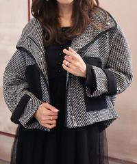 【再入荷】bi-color check coat
