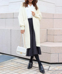 volume knit long gown