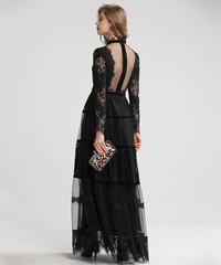 ロングメッシュドレス