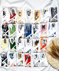 アルファベットツイリー スカーフ