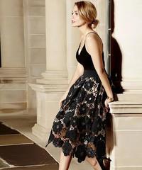 フラワーAラインスカート 2色展開