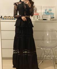 美ライン★レースロングドレス 2色展開