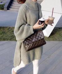 ベーシックニットセーター 2色展開