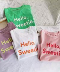 キッズHelloロゴTシャツ 4色展開