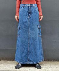 Vintage   Denim Lnog Skirt