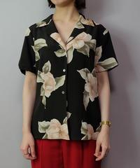Vintage   Silk Flower Shirt